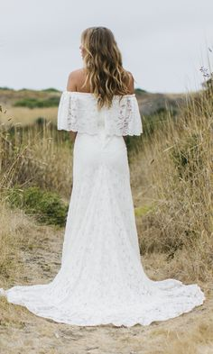 Lace Vintage Inspired Wedding Dress & Gown | White Bohemian & Formal Dress | Daughters of Simone