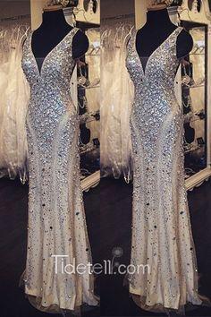 2016 long dresses, mermaid prom dresses, sparkly prom dresses, beaded prom dresses, luxurious evening formal dresses