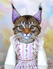 Chelsea the Maine Coone Original One-of-a-kind Folk Art Cat Doll by Max Bailey and Elizabeth Ruffing