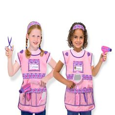 Make an appointment for some hair styling fun with this trend setting Melissa & Doug Hairdresser Dress Up Costume Set!