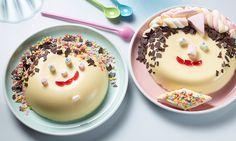 Pudding-Gesicht - Eine schöne Idee für den Kindergeburtstag ist dieser Vanillepudding