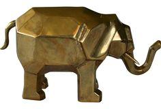 Vintage Brass Elephant -
