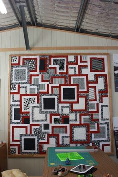 2 Jelly Rolls and 1 Layer Cake. Simply Style Stacked Square Quilt