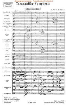 """The opening moments of Olivier Messiaen's gigantic 10-movement orchestral masterpiece, """"Turangalila Symphony.""""  Receive this when you can."""