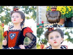 Queen of Hearts (Red Queen) | Halloween Hairstyles - YouTube