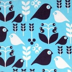 Image of Good Morning Capri Blue organic cotton jersey (by the half metre)