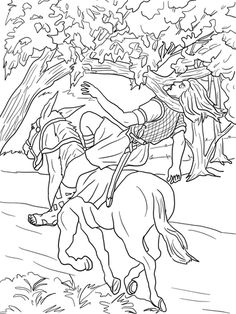 Absalom Death Coloring Page