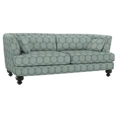 Essex Sofa, Rosette, Blue Stone