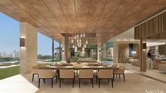 AE Emirates Hills: >A villa on the Emirates Hills Golf Estate overlooking a series of beautiful water features towards Dubai Marina. Outdoor Living Areas, Outdoor Spaces, Dubai Houses, Interior Design Dubai, Internal Courtyard, Modern House Design, Studio, Modern Architecture, Decoration