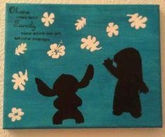 Lilo and Stitch Acrylic Silhouette  Painting by ArtByChoice. , via Etsy.