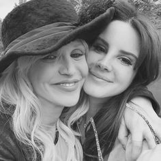 Lana and Courtney Love