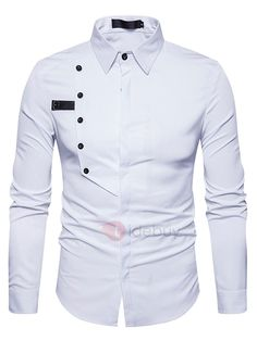2018 New Arrival Shirts For Men Single-Breasted Decoration Business Casual Shirtseosewe African Shirts For Men, African Clothing For Men, Mens Clothing Styles, Cool Shirts For Men, Casual Shirts For Men, Men Casual, Nigerian Men Fashion, African Men Fashion, Slim Fit Dress Shirts