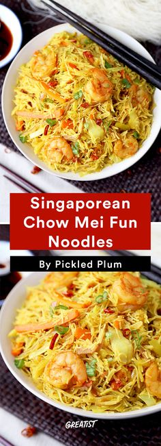 3. Singaporean Chow Mei Fun Noodles #greatist http://greatist.com/eat/easy-stir-fry-recipes-to-make-during-the-week