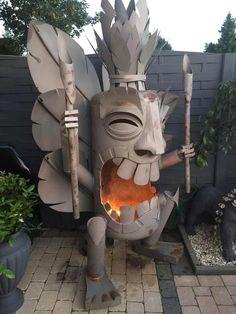 Tiki God fire pit