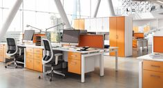 orange is a color that has also been known to boost people's moods and productivity.
