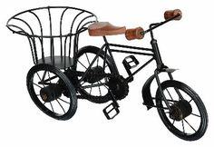 Utsav Kraft Iron Bike Showpiece (37 cm x 10 cm x 16 cm, Black)