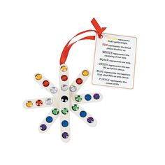 Colors of Faith Craft Stick Snowflake Ornament with Card Craft Kit - OrientalTrading.com