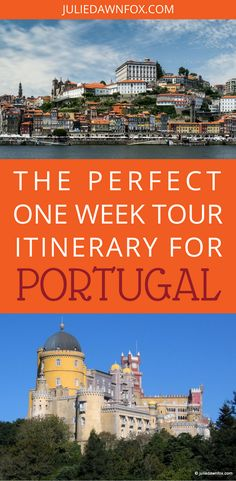This One Week Portugal itinerary is designed for first time travellers to Portugal and is easily customised to suit your specific tastes. You'll see some of Portugal's unique highlights and get a real taste for Portuguese food and wine. Discover the varied landscapes, architecture and local culture with a carefully selected range of expertly guided tours. Click through to see my perfect one week tour itinerary for Portugal. | Julie Dawn Fox in Portugal #portugal #travelitinerary…