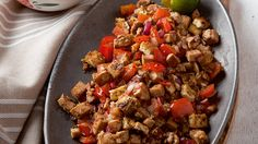 This easy tofu sisig recipe is a vegetarian twist on the porky Filipino favorite!                                                                                                                                                                                 More