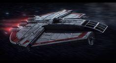 Star Wars Corelli Space Freighter Commission by AdamKop on DeviantArt Nave Star Wars, Star Wars Rpg, Star Wars Ships, Star Trek, Constellations, Star Wars Bounty Hunter, Star Wars Spaceships, Star Wars Vehicles, Star Wars Models