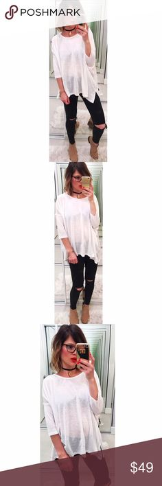 ➡Zara White Loose Top⬅ Lightweight and airy top with a relaxed silhouette and fitted 3/4 sleeves. Perfect throw over all your jeans, leggings and shorts. New without tags.  💕Offers welcome. Take 30% off your entire purchase automatically at checkout when you use the bundle feature, or make an offer for your bundle. Happy Poshing!💕 Zara Tops