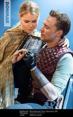 @DonmarWarehouse: 1st night over & we can't wait to hear what you think #Coriolanus. Here's Tom Hiddleston & Birgitte H Sorensen as Virgilia