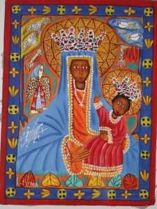 Creole Madonna and Child, Haitian Folk Art, c. 2006