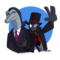 Toffee from Star vs the Forces of Evil meets Black Hat from Villainous/Villanos