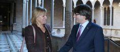 Puigdemont es reuneix amb lambaixadora de Suècia al Palau de la Generalitat