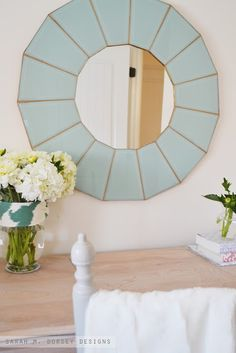sarah m. dorsey designs: DIY Glass Mirror!