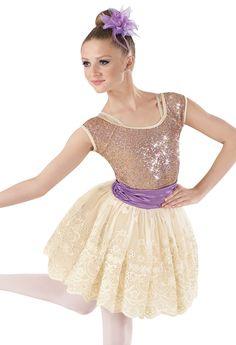 Weissman™ | Sequin & Satin Lace Skirt Dress
