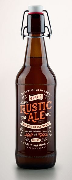 Rustic Ale packaging