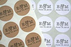 Hey, I found this really awesome Etsy listing at https://www.etsy.com/listing/233293498/wedding-monogram-labels-personalized