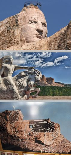 The Crazy Horse Memorial Black Hills South Dakota Commissioned By Henry Standing Bear