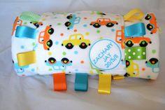 Beep Beep Car Plush Personalised Tag Blanket by LittleBabybugsLtd