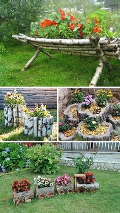 70 Creative Flower Spring Ideas To Decorate Flower Beds In Front Of Your Home, 70 Creative Flower Spring Ideas To Decorate Flower Beds In Front Of Your Home, garden design creative Garden Yard Ideas, Backyard Garden Design, Garden Crafts, Diy Garden Decor, Garden Projects, Backyard Landscaping, Garden Art, Landscaping Ideas, Backyard Ideas
