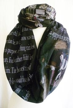 Charles Dickens A Christmas Carol Literature Scarf by RoobyLane