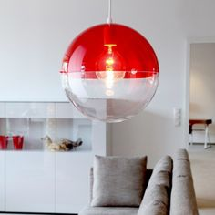 Koziol Orion Hanging Pendant Lamp - Red in Home, Furniture & DIY, Lighting, Ceiling Lights & Chandeliers Decor, Lighting Inspiration, Interior Lighting, Round Lamp, Pendant Lamp, Home Lighting, Lights, Hanging Pendant Lamp, Red Lamp