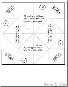 Cootie Catchers re-visited because I love them - Pinned by @PediaStaff – Please Visit ht.ly/63sNtfor all our pediatric therapy pins