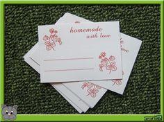 Homemade - etiketten voor zelfgemaakte jam ... van Art of Lahja op DaWanda.com Love Art, Playing Cards, Homemade, Etsy, Home Made, Playing Card Games, Game Cards, Hand Made, Playing Card
