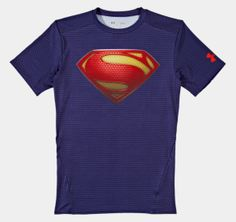 Bought this for Rory.  Men's Under Armour® Alter Ego Superman - Man of Steel Shirt