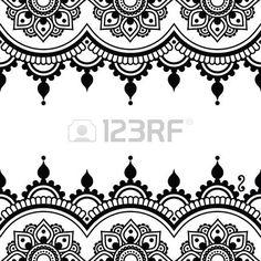 Mehndi, Indian Henna Tattoo-Design - Grußkarte, Spitze Verzierung photo