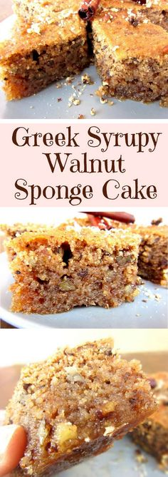 A very soft and moist walnut cake. Flavored with cinnamon, cloves, and brandy and coated with syrup. It's very easy and quick to make. Plus it keeps well in the fridge for up to a week due to the syrup. #walnutcake,#recipe,#oldfashioned,#Greek,#easy,#moist,#cinnamon