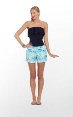 Very cute shorts! Resort White High Tide Toile