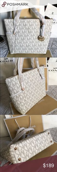 Michael Kors Bag 100% Authentic Michael Kors Tote Bag, brand new with tag!.color Vanilla. Michael Kors Bags Totes