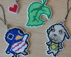 - Dimensions: 5 cm x 7 cm x - All the anteater villagers I made so far - Anabelle, Annalisa, Antonio, Cyrano and Pango. Melty Bead Patterns, Beading Patterns, Art Perle, Iron Beads, Crossstitch, Bead Art, Bead Crafts, Perler Beads, Animal Crossing