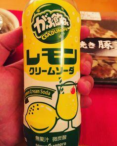 lemon cream soda #drink #japan #soda #lemon #cream #gabunomi