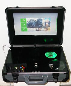 custom xbox 360 portable that i made for a friend #videogamestips #xboxtips