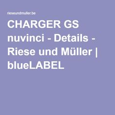 CHARGER GS nuvinci - Details - Riese und Müller | blueLABEL