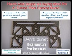 Check out what people are saying about the #cameraguard for #DJI #phantoms More reviews are on Amazon.com